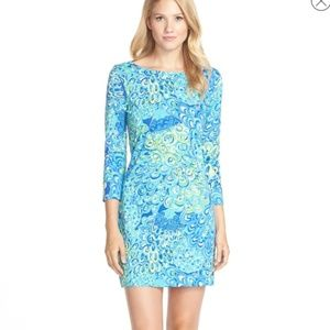 Lilly Pulitzer Marlowe Dress Sea Blue Lagoon XS
